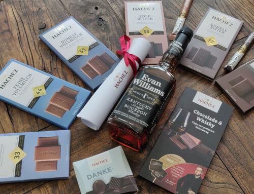 Hachez Chocolade und Whisky